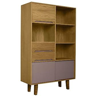 Fusion Living Modern Retro Oak e Grey Book Case