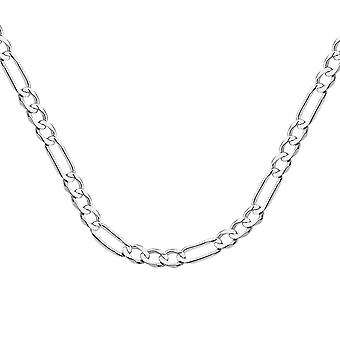 10k White Gold 7.3mm Light Concave Figaro Chain Necklace Jewelry Gifts for Women - Length: 22 to 30