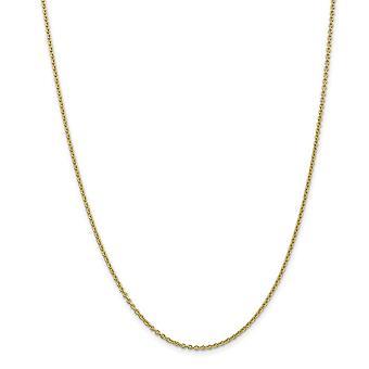 10k 2 mm jednofarebné leštené káblové reťaze ankety šperky Darčeky pre ženy-dĺžka: 9 až 10