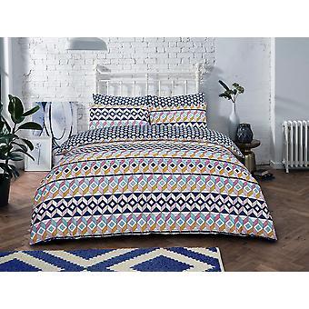 Geometric Stripes Brights Bedding Set