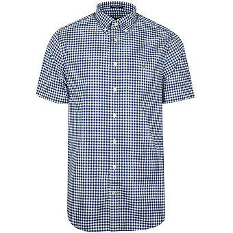 GANT GANT Yale Blue Check Regular Short-Sleeve Shirt