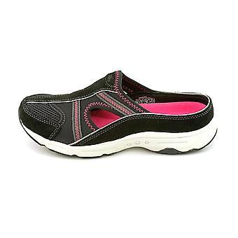 Easy Spirit Womens ARORA Leather Round Toe Slide Flats