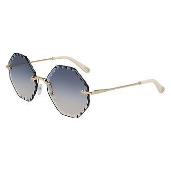 Chloe Rosie CE143S 868 Gold/Blue Gradient Sunglasses