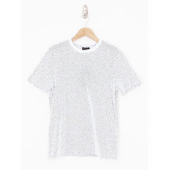 Emporio Armani Polka Dot Crew Neck T.Shirt - White/Black