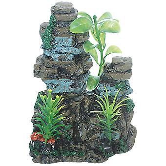 Ica Ornament Wall with Plants (Rybki , Dekoracja , Skały i jaskinie)