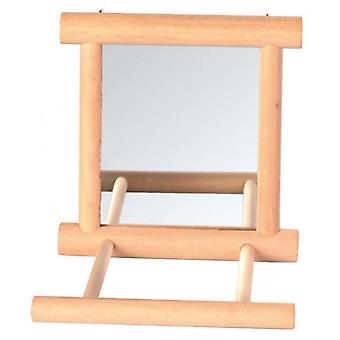 Trixie Mirror with Wooden Frame 9x9 Cm. (Birds , Bird Cage Accessories , Mirrors)