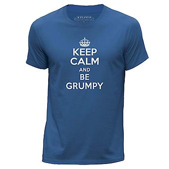 STUFF4 Col rond T-shirt-T-Shirt/Keep Calm hommes être grincheux/Royal Blue