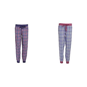 Foxbury Womens/Ladies Woven Check Lounge Trousers
