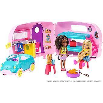 Barbie FXG90 Club Chelsea Dukke, Valp, Bil, Transformere Camper
