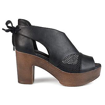 Brinley Co Naisten Sorly Peep Toe Rento Slingback Sandaalit