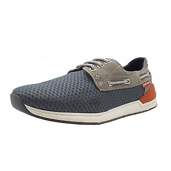 Chatham Marine Harbour Men's Mesh Boat Shoes In Grey