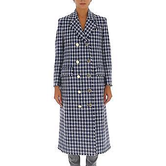Thom Browne Foc596t05618450 Women's Blue Cashmere Coat