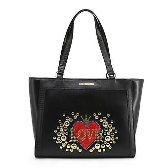Love Moschino Original Women Fall/Winter Shopping Bag - Black Color 37187