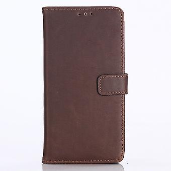 Huawei P20 Retro Wallet Case-Coffee