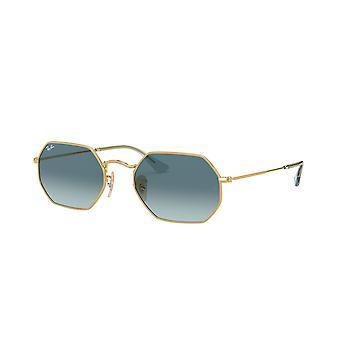 Ray-Ban RB3556N 91233M Guld/Blå Gradient Grå Solglasögon
