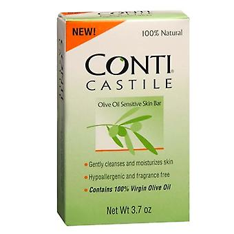 Conti castile olive oil sensitive skin bar soap, fragrance free, 3.7 oz