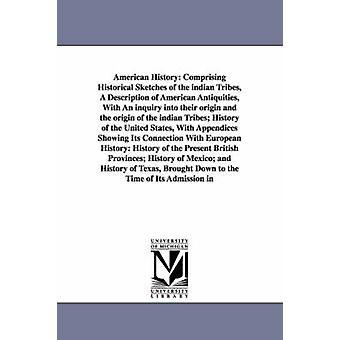 Histoire américaine Comprenant des croquis historiques des tribus indiennes Une description des antiquités américaines avec une enquête sur leur origine et l'origine de l'histoire des tribus indiennes de l'unité par Willson et Marcius