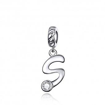 Sterling Silver Pendant Charm Letter S - 6128