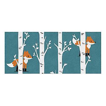 Kids Rug - Fox - Wasbaar - 65 x 150 cm