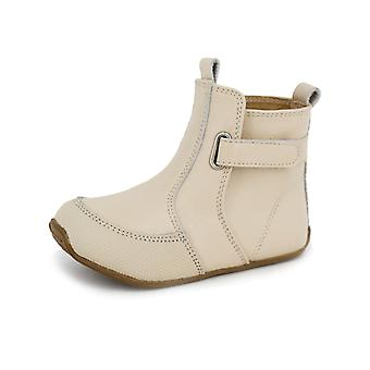 SKEANIE Toddler and Kids Leather Cambridge Boots in Latte Cream