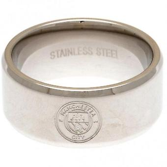 Manchester City Band Ring Large
