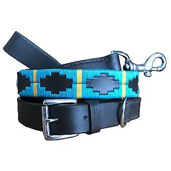Carlos diaz genuine leather  polo dog collar and lead set cdkubp555