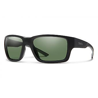 Outback Sonnenbrillen Männer matt schwarz/ grün