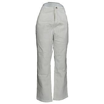 Denim & Co. Women's Plus Jeans Classic Denim White A304475 PTC