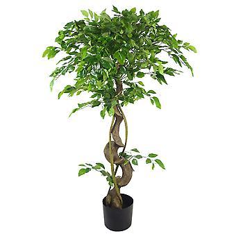 120cm Twisted Tronco Artificiale Giapponese Fruticosa Stile Ficus Albero