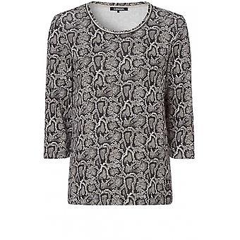 Olsen Snake Print Jersey Top