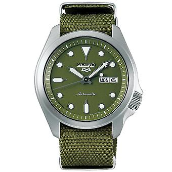 Seiko 5 Sports Green Dial Green Nylon Strap Men's Watch SRPE65K1