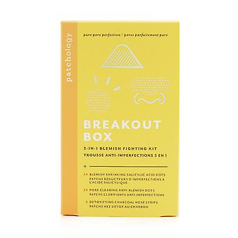 Breakout box 3 in 1 blemish fighting kit: blemish shrinking dots, ant blemish dots, charcoal nose strips, storage sachets for dots 249143 -