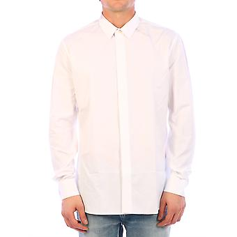 Saint Laurent 612547y216w9000 Men's White Cotton Shirt