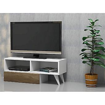 Mobiler TV-Port Active Color White, Nussbaum in Melaminischem Chip, PVC 140x29.7x35 cm