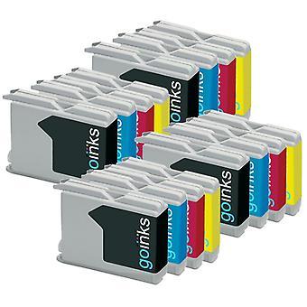 4 inktcartridges voor de vervanging van Brother LC970 en LC1000 Compatible/non-OEM by Go-inkten (16 inkten)