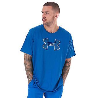 Men's Under Armour UA Grande Logotipo T-Shirt em Azul