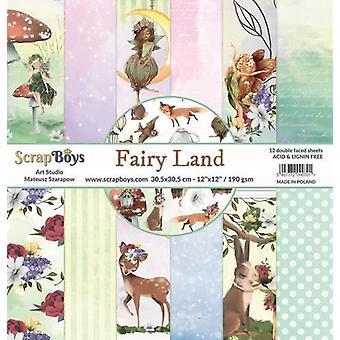 ScrapBoys Fairy Land paperset 12 vl+cut out elements-DZ FALA-01 190gr 30,5cmx30,5cm