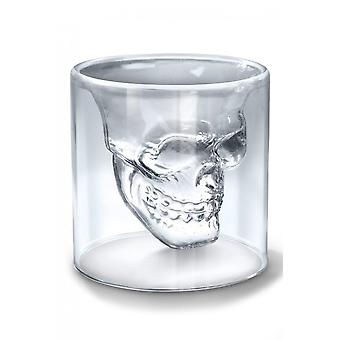 Gothic Homeware Doomed Crystal Skull Shot Glass