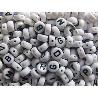 6mm White Alphabet Letter Beads for Kids Crafts -400pk
