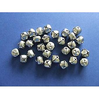 4 Silver 15mm Jingle Bells for Crafts