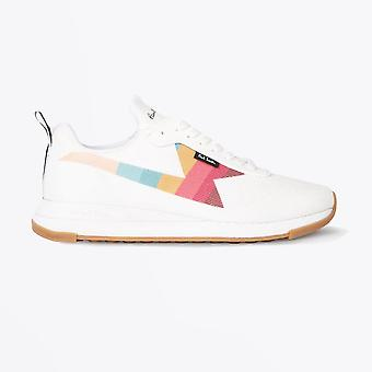 Paul Smith  - 'Rocket' Recycled Knit Trainers - White/Multi