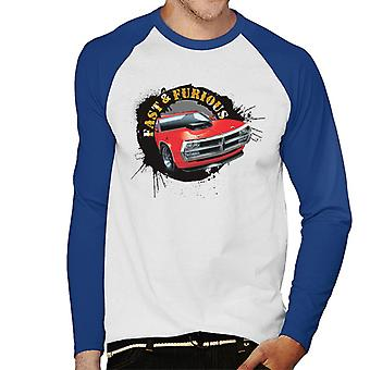 Fast and Furious Car Splatter Men-apos;s Baseball Long Sleeved T-Shirt