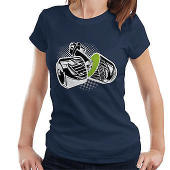 Mountain Dew Chainsawed i halv kvinner ' s T-skjorte