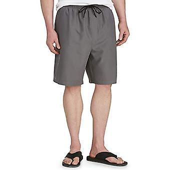 Essentials Men's Big & Tall Quick-Dry Swim Trunk fit by DXL, Charcoal,...
