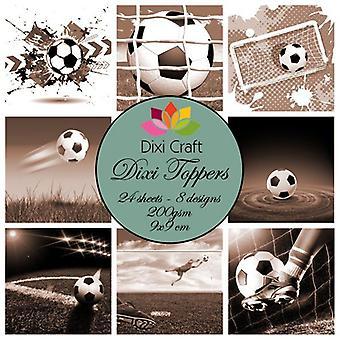 Dixi Craft Dixi Toppers 9x9cm Vintage Fodbold