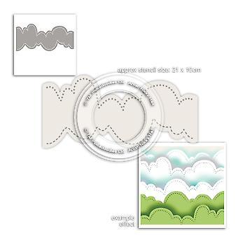 Polkadoodles Cloud Landscape Stencil