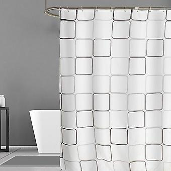 Modern Geometric Flowers Cartoon Shower Curtain Curtain For Bathroom