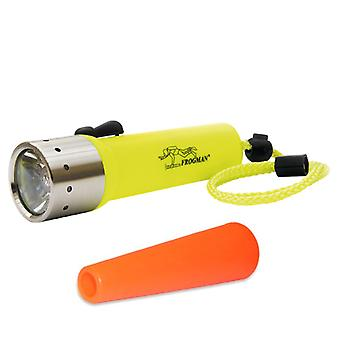 LED Lenser D14 Frogman Neon 400 Lumens Yellow Diving torch with FREE SIGNAL CONE