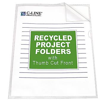 62127BNDL3BX, Recycled Project Folders, Clear - Reduced glare, 11 x 8 1/2, 25/BX (Set of 3 BX)