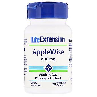 Prolongation de la durée de vie utile, AppleWise, 600 mg, 30 capsules végétariennes